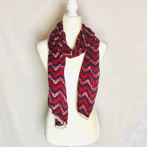 NWOT Betsey Johnson Patriotic Scarf